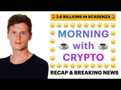 ☕️🚨 SCADENZA OPTIONS!! 🚨☕️ MORNING with CRYPTO: BITCOIN / ALTCOINS // Recap & News [30/04/2021]