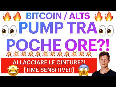 🤩👀 PUMP TRA POCHISSIMO?! 👀🤩 BITCOIN / ALTCOINS: ORA DI ALLACCIARE LE CINTURE? [SUPER TIME SENSITIVE]