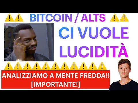 ❌❌ NO EMOZIONI!!  ❌❌ BITCOIN / ALTCOINS: SIAMO ALLA RESA DEI CONTI?! [time sensitive importante!!]