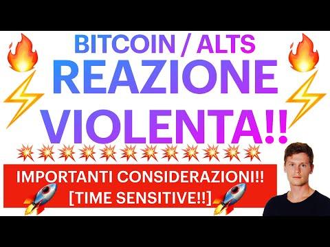 🔥⚡️QUELLO CHE VOLEVO VEDERE ORA!!⚡️🔥BITCOIN / ALTCOINS: IMPORTANTI CONSIDERAZIONI! [time sensitive!]