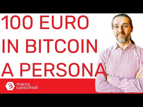 Possediamo circa 100€ in bitcoin in media al mondo