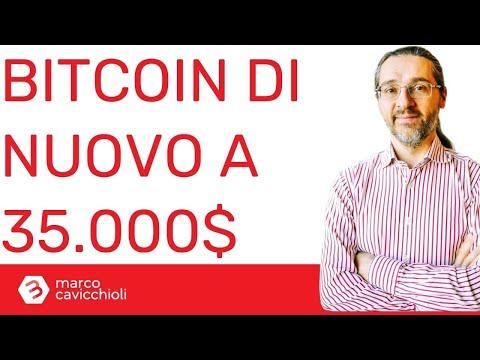 Bitcoin scende di nuovo a 35.000$