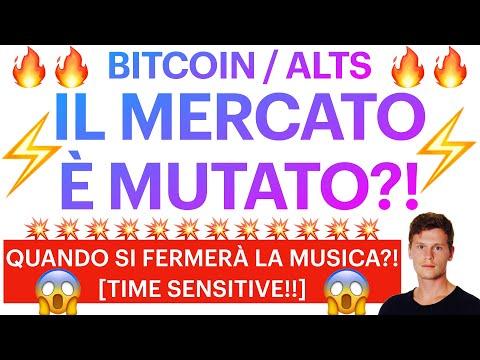 😱🔥 È CAMBIATO IL MERCATO?! 🔥😱 BITCOIN / ALTCOINS: QUANDO FINIRANNO LE DANZE?! [super time sensitive]