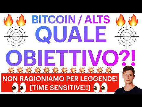 🔥🤩  QUALE OBIETTIVO FINALE?! 🤩🔥 BITCOIN / ALTCOINS: RAGIONIAMO CON I DATI ALLA MANO [time sensitive]