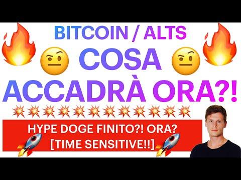 🤨🔥 COSA CI ASPETTA ORA?! 🔥🤨 BITCOIN / ALTCOINS: FINITO HYPE MEME DOGE – SHIBA?! [time sensitive]