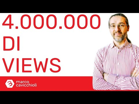 4 MILIONI di visualizzazioni per il mio canale YouTube