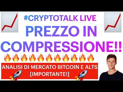 ⚡️📈 SEMPRE PIÙ COMPRESSO!! 📈⚡️ BITCOIN / ALTCOIN: ANALISI DI MERCATO LIVE! #CRYPTOTALKLIVE