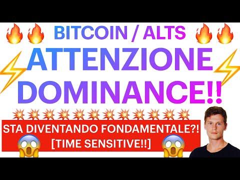 ⚡️😱 ATTENZIONE ALLA DOMINANCE!! 😱⚡️ BITCOIN / ALTCOINS: ELEMENTO GUIDA?! [time sensitive!]