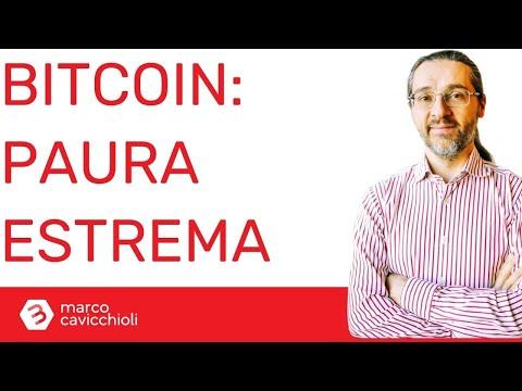 Estrema paura per bitcoin e criptovalute (ma potrebbero risalire)