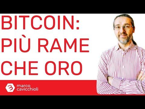Bitcoin diverso dall'oro, ma simile al rame (secondo Goldman Sachs)