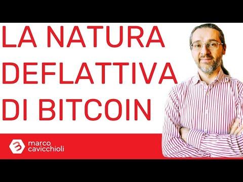 Cos'è la natura deflattiva di bitcoin (ovvero la sua principale caratteristica finanziaria)