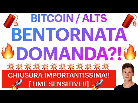 🔥🚀 WELCOME BACK! 🚀🔥 BITCOIN / ALTCOINS: NECESSITIAMO DI CONFERME ORA [time sensitive!!]