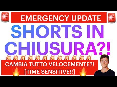 🚨🚨EMERGENCY UPDATE: POTREBBE CAMBIARE TUTTO?! 🚨🚨 BITCOIN / ALTCOINS: SHORTS IN CHIUSURA?!