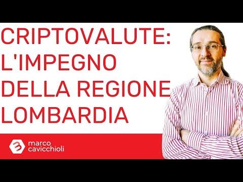 Criptovalute: l'impegno ufficiale della Regione Lombardia (con Massimo De Rosa)