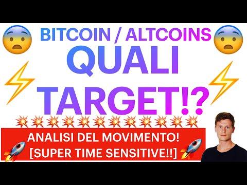😨⚡️ QUALI TARGET?! ⚡️😨 BITCOIN / ALTCOINS: ANALISI DEL MOVIMENTO! [super time sensitive!!]