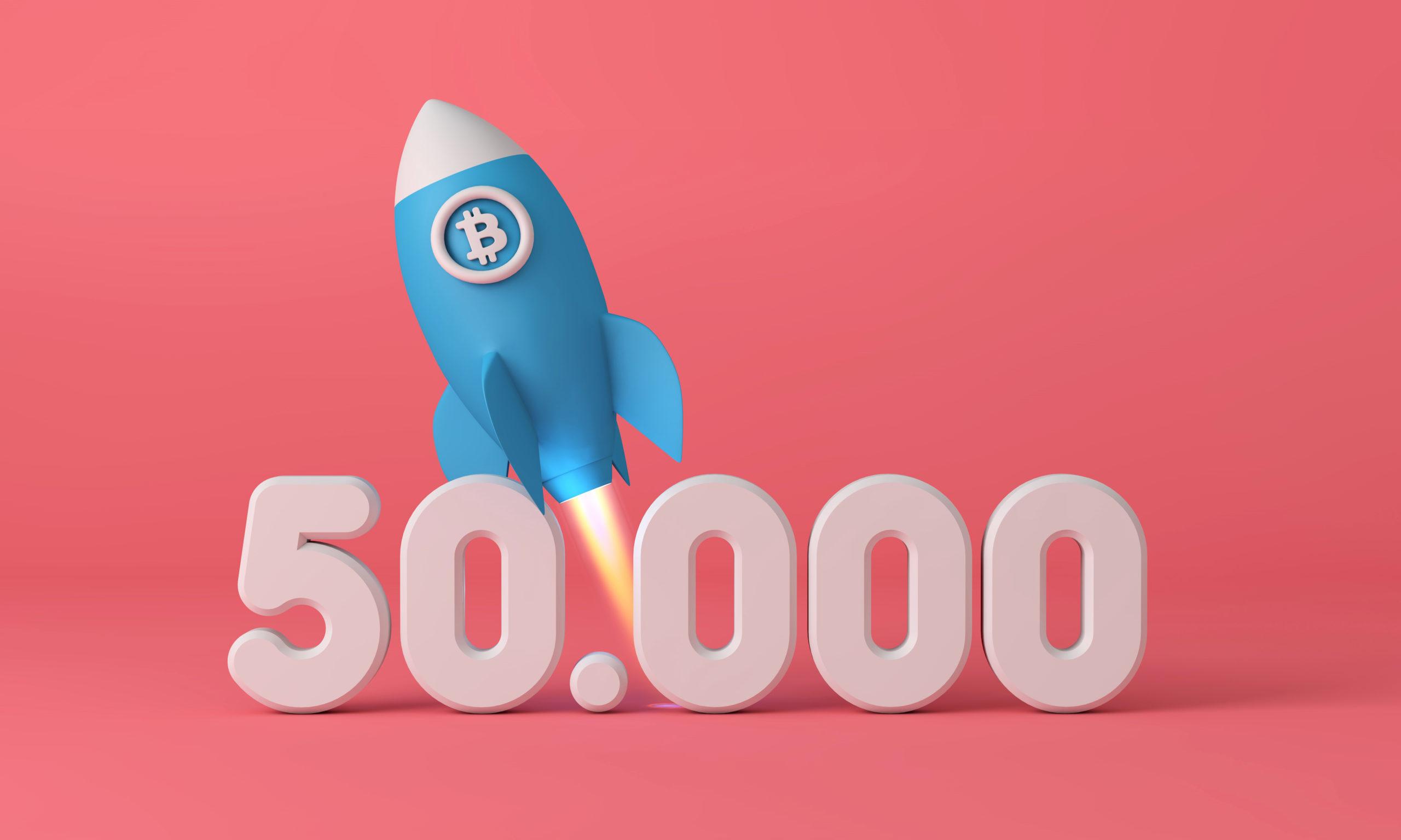 Bitcoin è stato scambiato di nuovo al di sopra di 50.000 USD