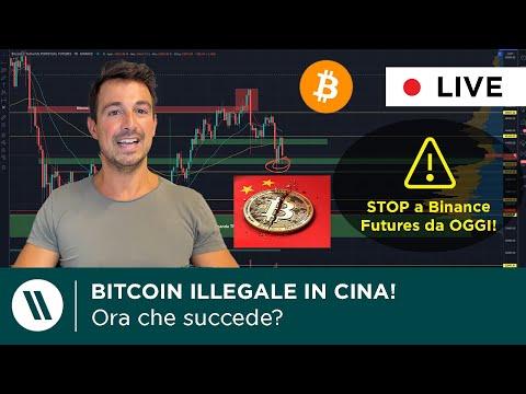 BITCOIN ILLEGALE IN CINA! Continuerà a CROLLARE? | BINANCE FUTURES: arriva lo STOP. Che fare ora?