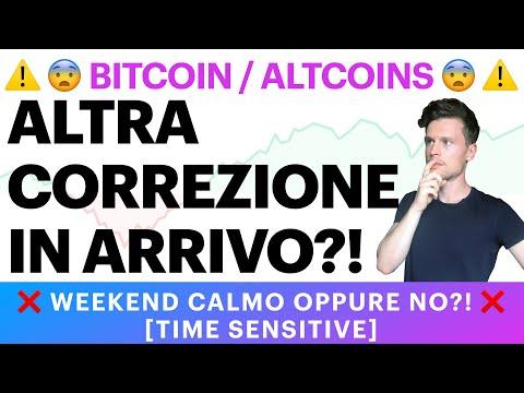 😨⚠️ PUO' ARRIVARE UN'ALTRA CORREZIONE?! ⚠️😨 BITCOIN / ALTCOINS: WEEKEND CALMO O NO? [time sensitive]