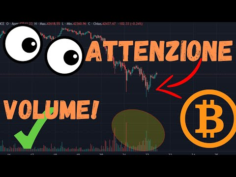 MOMENTI DECISIVI! BITCOIN SUL SUPPORTO! IL VOLUME C'E'! #bitcoin #cripto