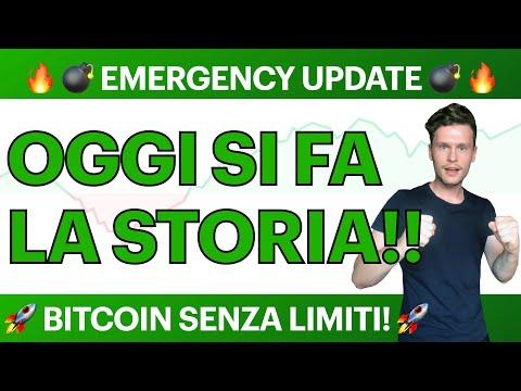 🚀🔥 EMERGENCY UPDATE: OGGI SI FA LA STORIA!! 🔥🚀 BITCOIN / ALTCOINS: SENZA LIMITI?! [super importante]
