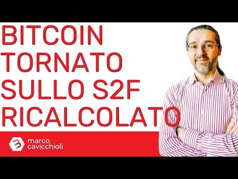 Bitcoin tornato sullo stock-to-flow ricalcolato da me
